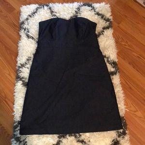 Strapless denim summer dress